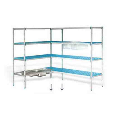 PLASTIC SHELVING CORNER UNIT - SUP6263