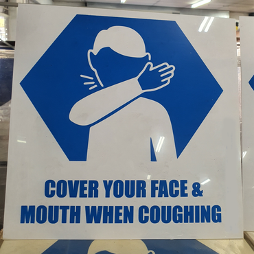 Cover Mouth & Face Sign