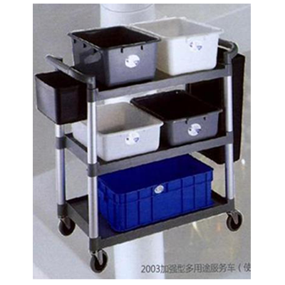 Plastic Trolley With Tote Box & Bins- 3 Tier 2003