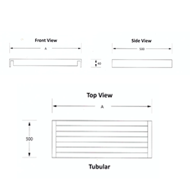 Sink Shelf 2300mm Tubular Stainless Steel Ezy Wash  EZVS1023O7 | Sink Shelf | wedoall.co.za