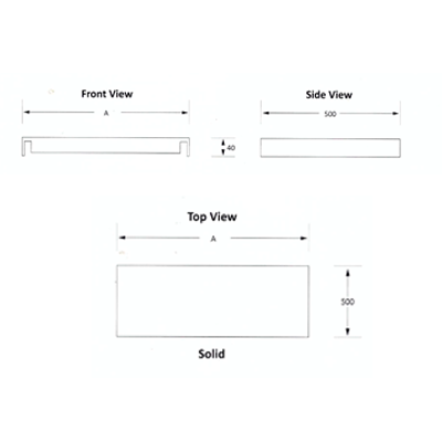 Shelf  650mm Stainless steel  Ezy Prep  EZVS1001O7