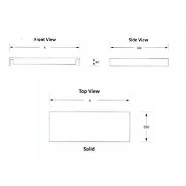 Table Shelf  650mm Stainless steel  Ezy Prep  EZVS1001O7 | Table Shelf | wedoall.co.za