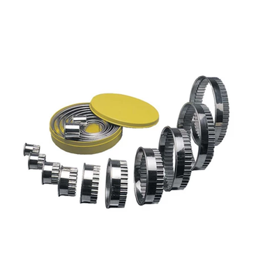 ROUND CUTTER SET S/STEEL- FLUTED 10 PIECE RCF0010