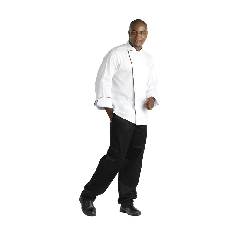Chefs Uniform Jacket Executive Men Short - Small UNI2041