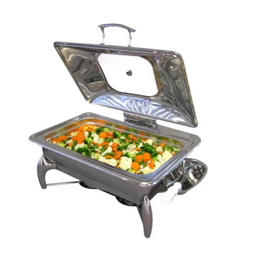 CHAFING DISH INDUCTION - RECTANGULAR- GLASS LID 9Lt (stand not included ) CDS4200