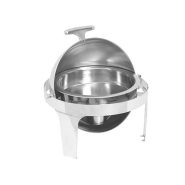 CHAFING DISH S/STEEL - ROLL TOP (ROUND)180 6.8Lt CDS1007