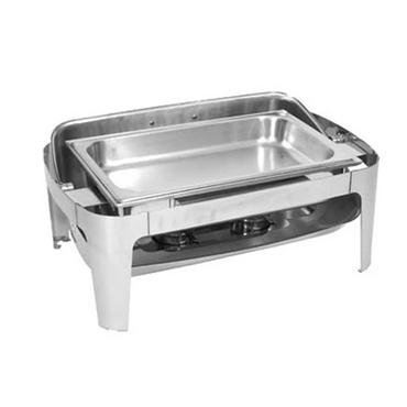 CHAFING DISH S/STEEL-ROLL TOP (RECT) 180 7.5Lt CDS1006