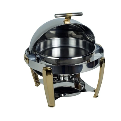 CHAFING DISH DELUX-ROLLTOP (ROUND) 6.8Lt CDS0005