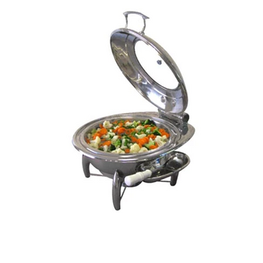 CHAFING DISH INDUCTION - ROUND- GLASS LID 6Lt ( stand not included ) CDS4100