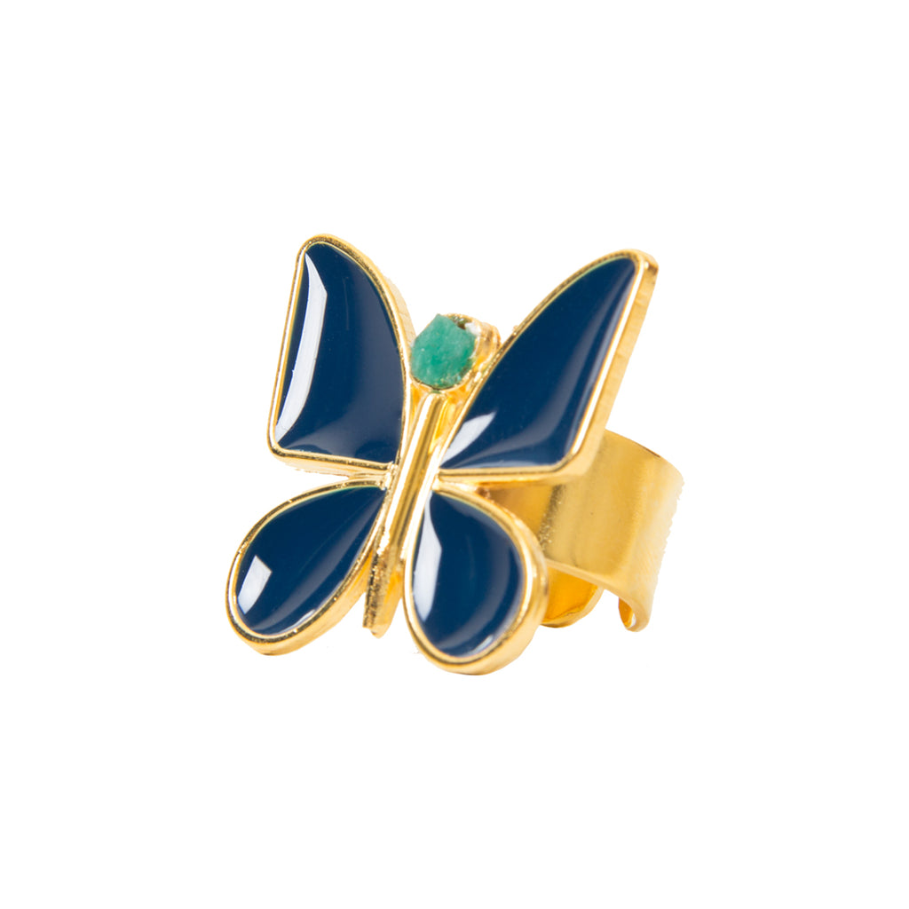 Blue Butterfly Effect Fiore Collection Ring - TAO Company Jewelry by Vanessa Arcila