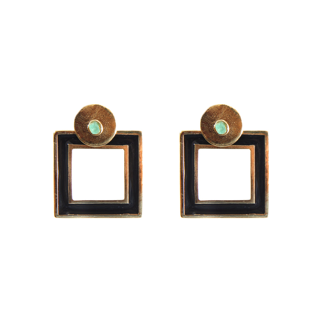 Square Dimensiones Collection Small Earrings