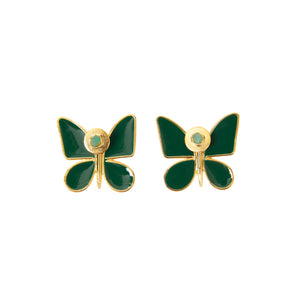 Green Butterfly Effect Fiore Collection Earrings - TAO Company Jewelry by Vanessa Arcila