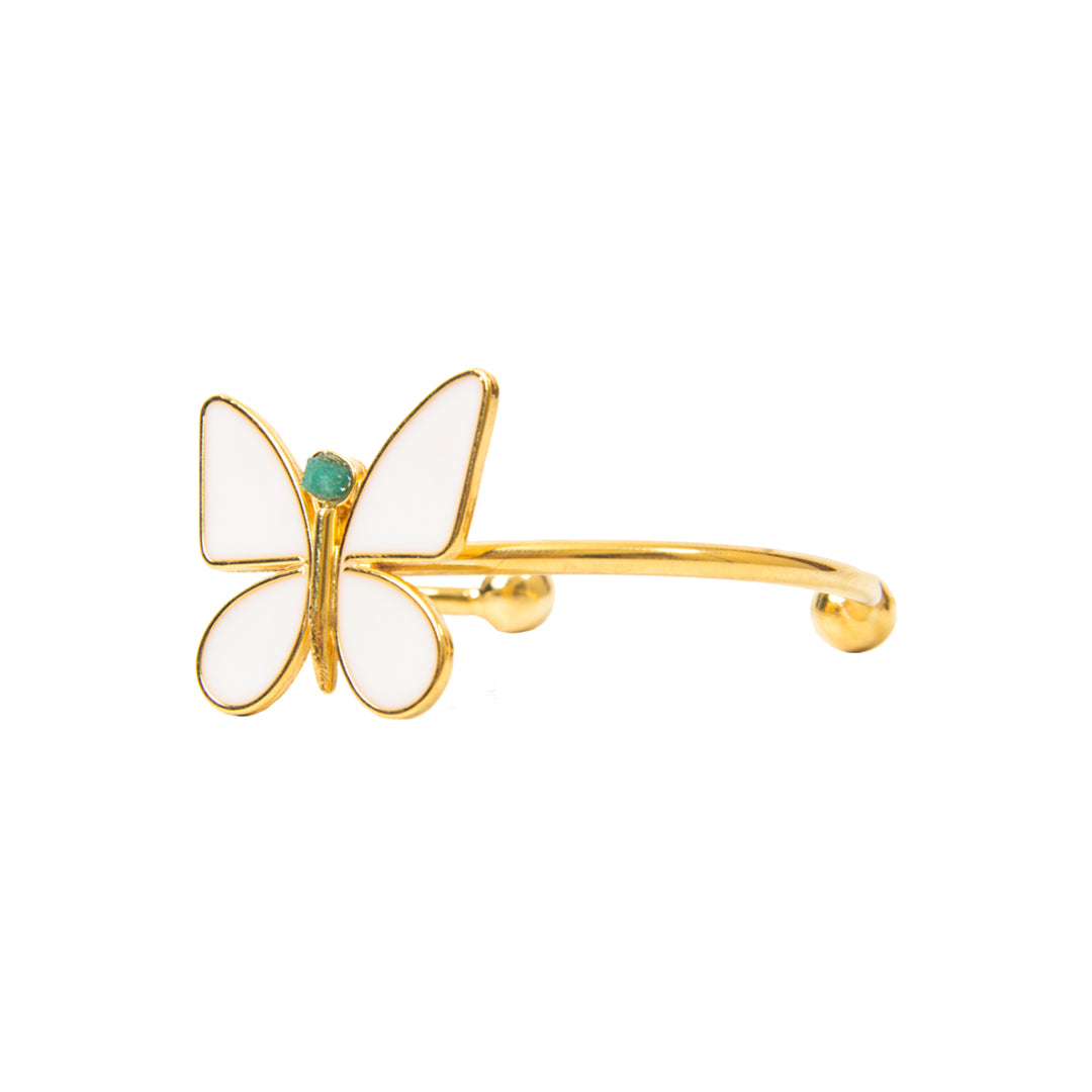White Butterfly Effect Fiore Collection Bracelet - TAO Company Jewelry by Vanessa Arcila