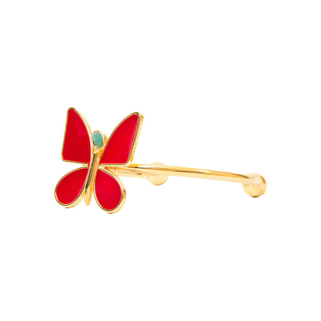 Red Butterfly Effect Fiore Collection Bracelet - TAO Company Jewelry by Vanessa Arcila