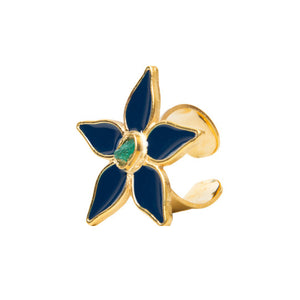 Blue Flower Power Fiore Collection Ring - TAO Company Jewelry by Vanessa Arcila