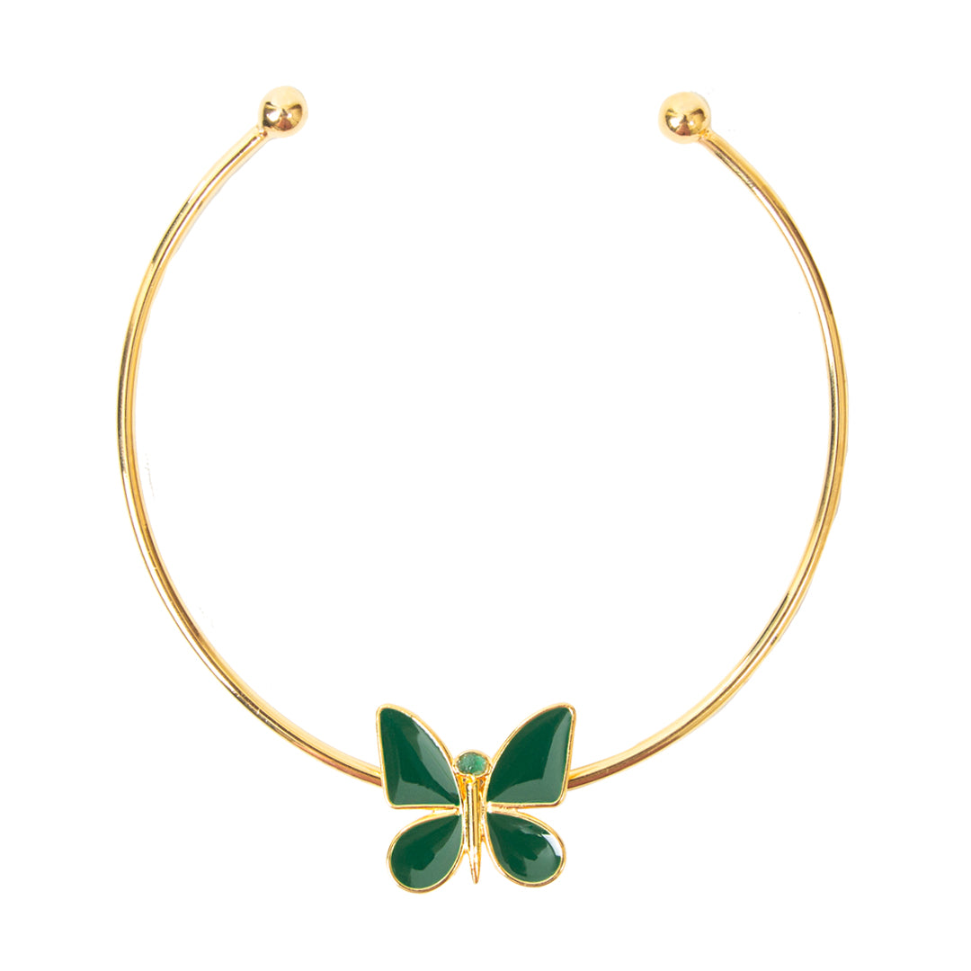 Green Butterfly Effect Fiore Collection Necklace - TAO Company Jewelry by Vanessa Arcila