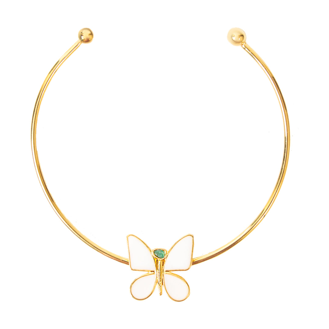 White Butterfly Effect Fiore Collection Necklace - TAO Company Jewelry by Vanessa Arcila