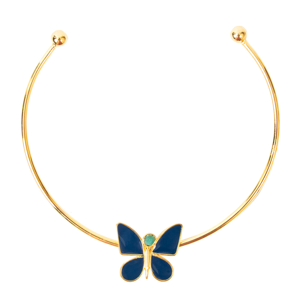 Blue Butterfly Effect Fiore Collection Necklace - TAO Company Jewelry by Vanessa Arcila
