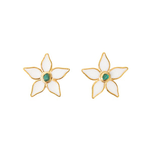 White Flower Power Fiore Collection Earrings - TAO Company Jewelry by Vanessa Arcila