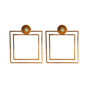 Square Dimensiones Collection Big Earrings