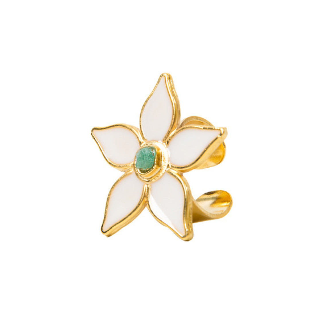 White Flower Power Fiore Collection Ring - TAO Company Jewelry by Vanessa Arcila