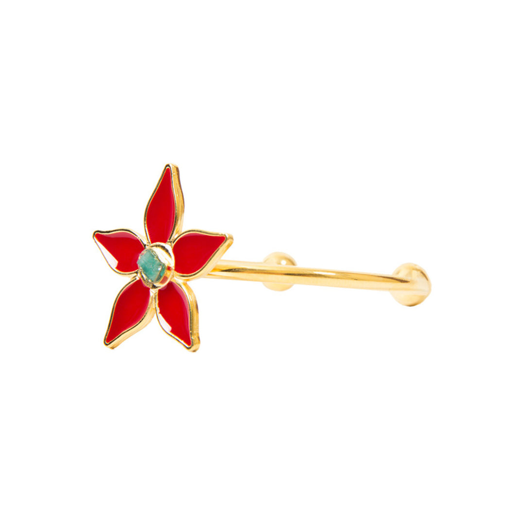 Red Flower Power Fiore Collection Bracelet - TAO Company Jewelry by Vanessa Arcila