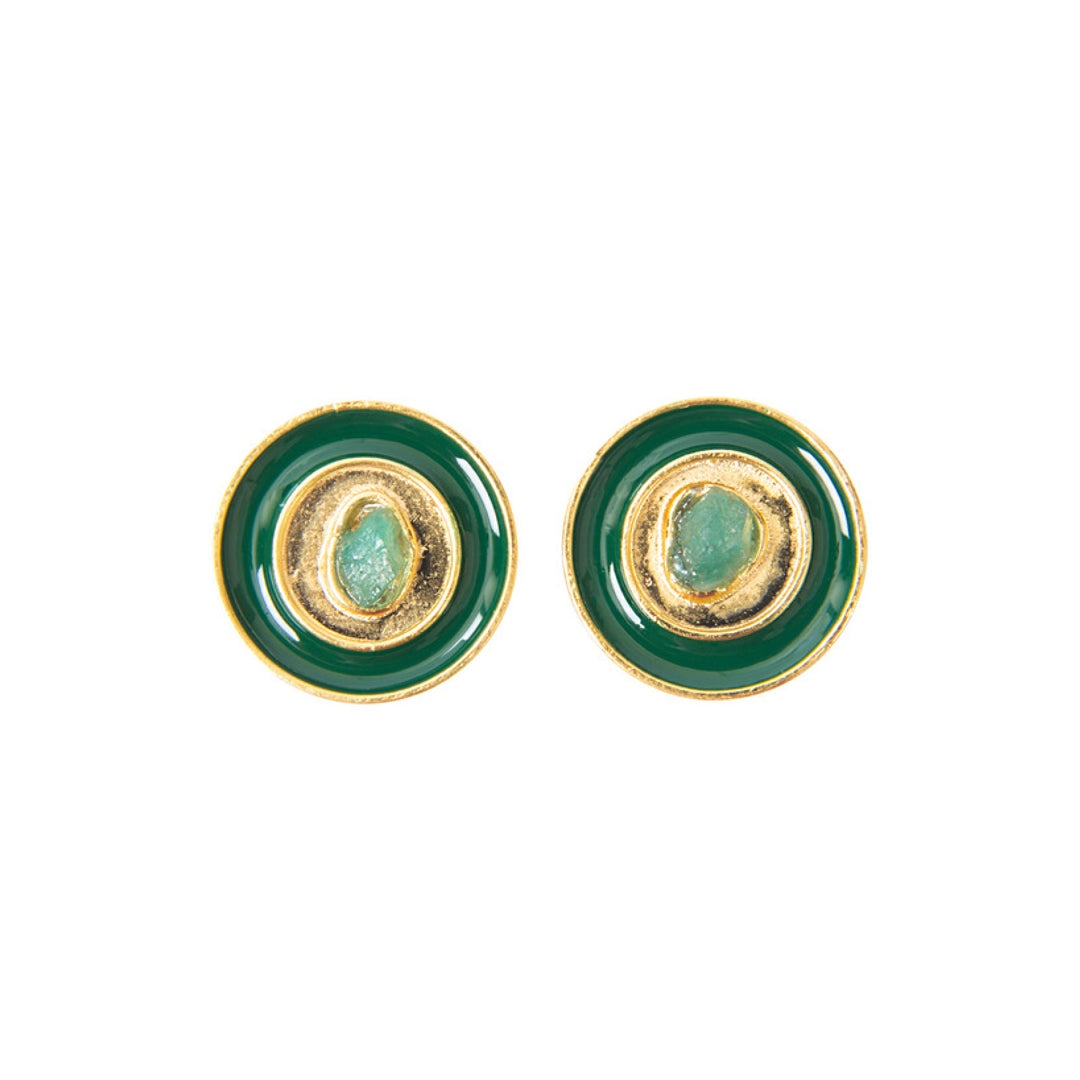 Green Nature Power Fiore Collection Earrings - TAO Company Jewelry by Vanessa Arcila