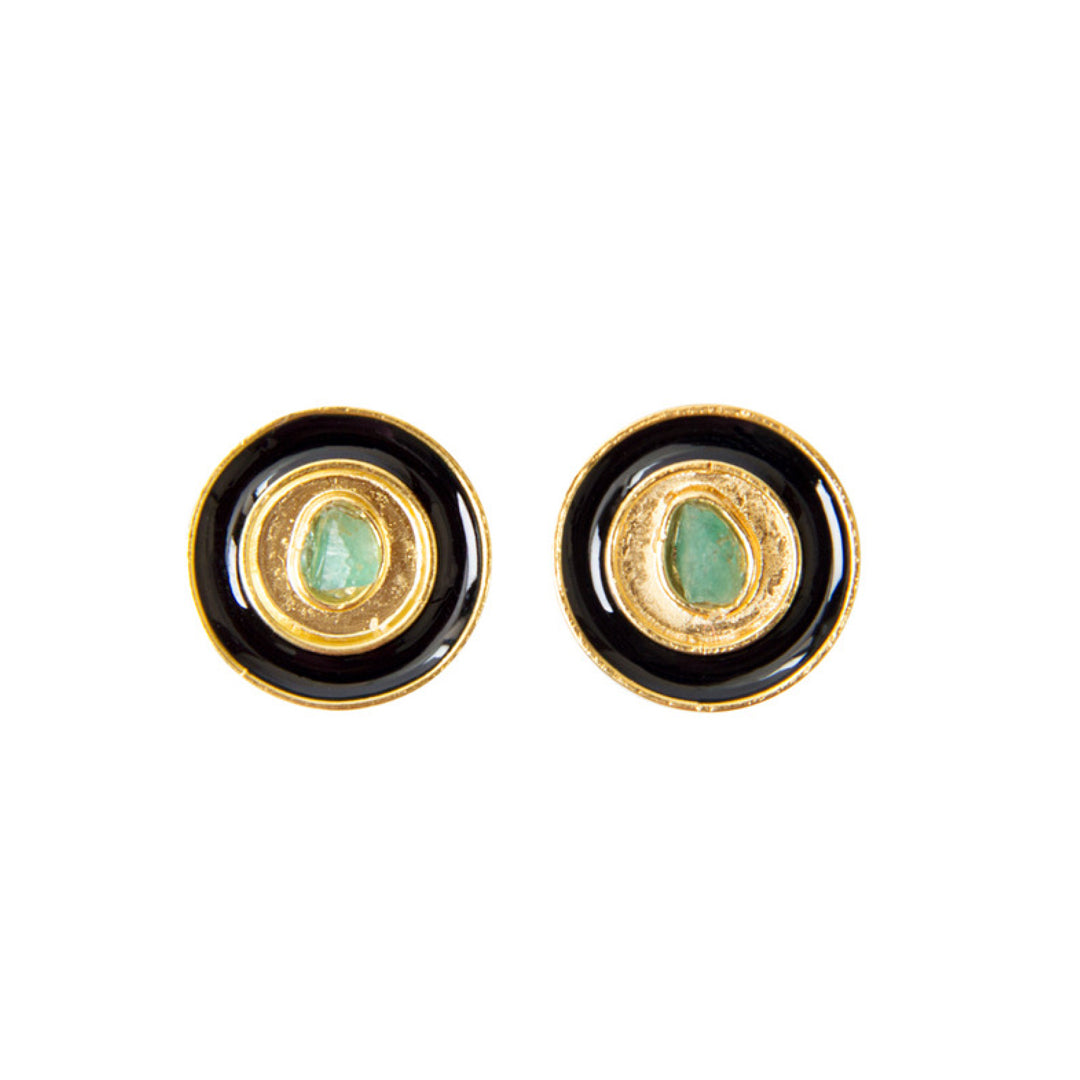 Black Nature Power Fiore Collection Earrings - TAO Company Jewelry by Vanessa Arcila