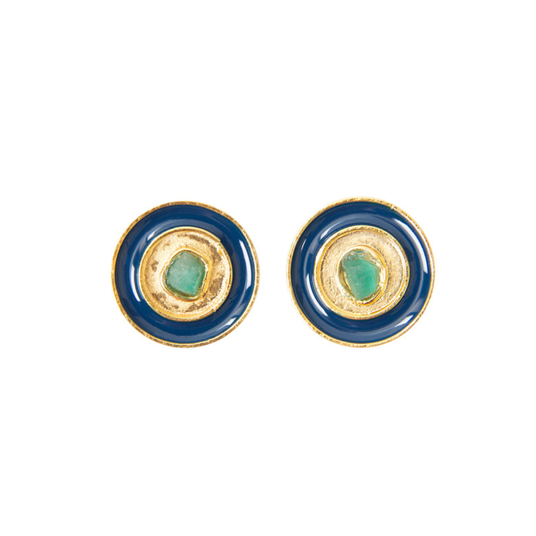 Blue Nature Power Fiore Collection Earrings - TAO Company Jewelry by Vanessa Arcila