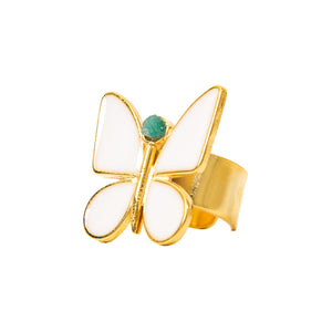 White Butterfly Effect Fiore Collection Ring - TAO Company Jewelry by Vanessa Arcila