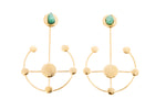 Andreina Constellations Collection 2 In 1 XL 24k Gold Plated and Bronze Earrings - TAO Company Jewelry
