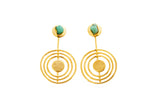 Anna Constellations Collection 2 In 1 XL 24k Gold Plated and Bronze Earrings - TAO Company Jewelry