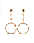 Monserrate Constellations Collection 2 In 1 XL 24k Gold Plated and Bronze Earrings - TAO Company Jewelry