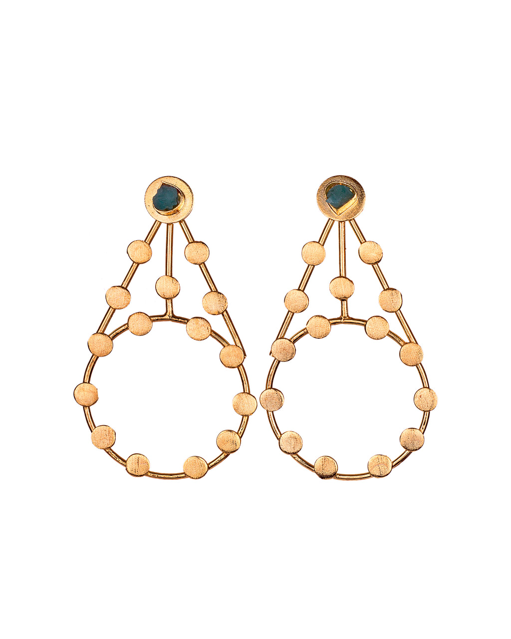 Olivia Constellations Collection 2 In 1 XL 24k Gold Plated and Bronze Earrings - TAO Company Jewelry