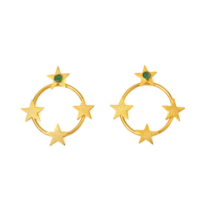 Oriana Sefirot Collection 2 In 1 XL Earrings - TAO Company Jewelry