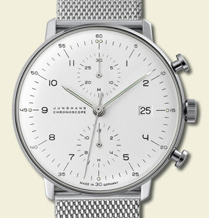 Max Bill Chronoscope Watch (MB-4003) by Junghans Watches
