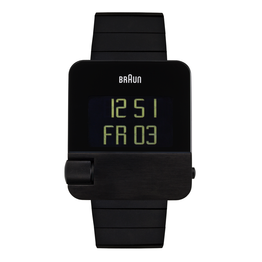 Braun Men's Prestige Digital - Black Steel Case, Black Steel Strap