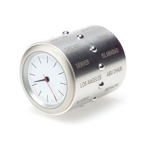 World Time Clock - Stainless Steel