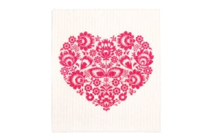Swedish Sponge Cloths - Heart (light)