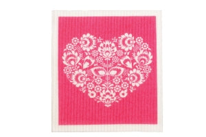 Swedish Sponge Cloths - Heart (dark)