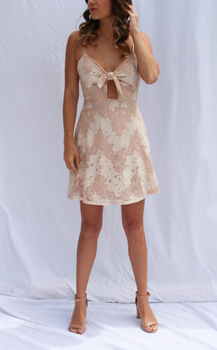 Lace Tie-Front Dress