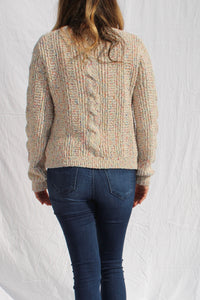 Popcorn Cable Knit Sweater