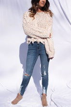 Distressed Confetti Sweater Ivory