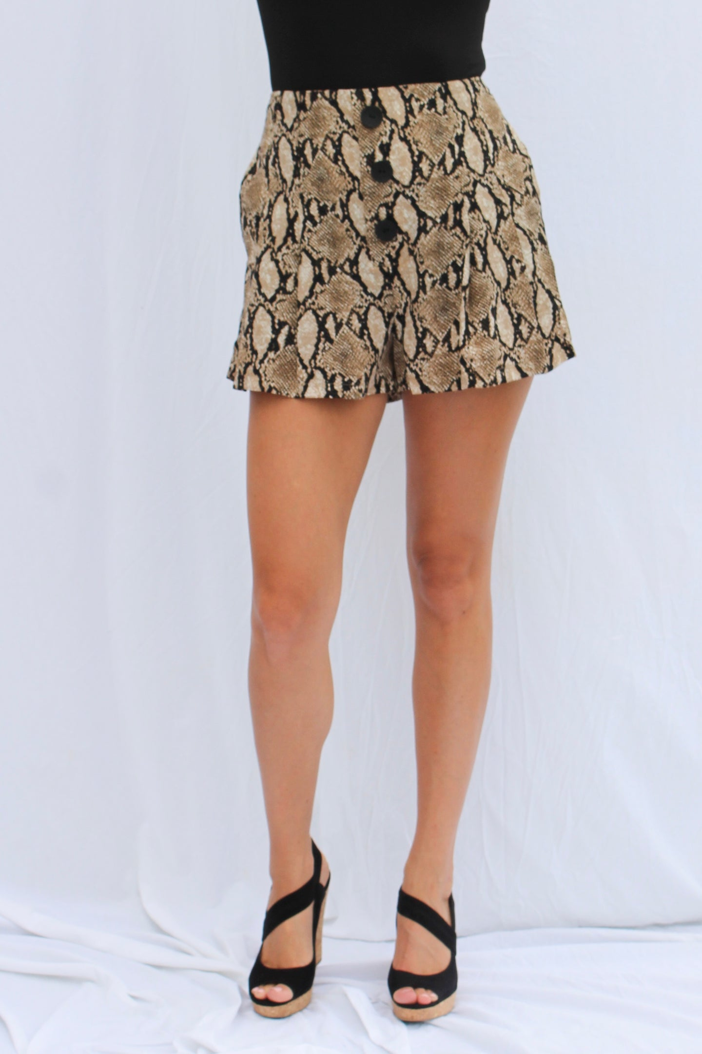 Brown Python Shorts