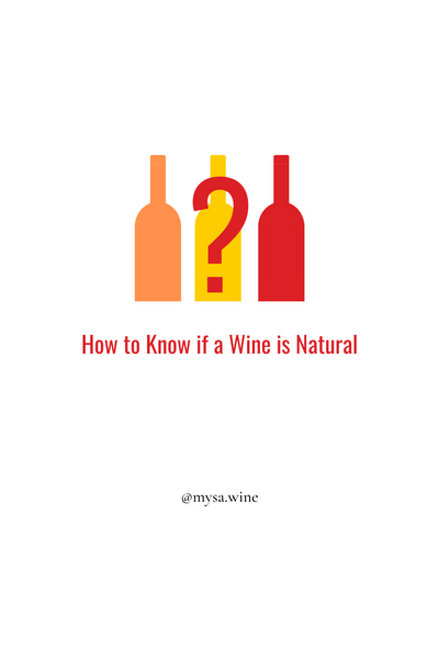 HOW TO KNOW IF A WINE IS NATURAL