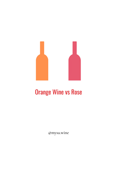 ORANGE WINE VS ROSÉ
