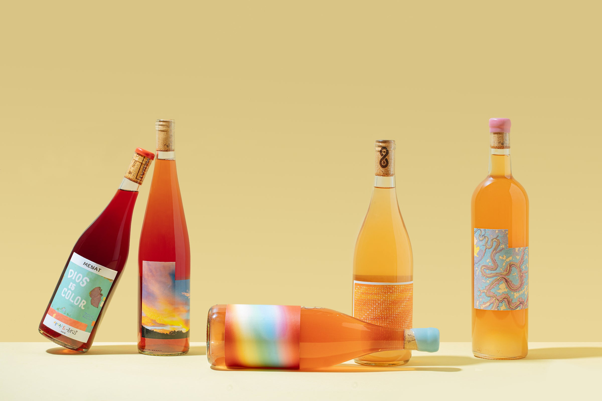 rose and orange natural wines from italy, oregon and california,