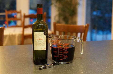 Measuring Cup as a Decanter