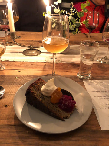 Dessert at the natural wine event