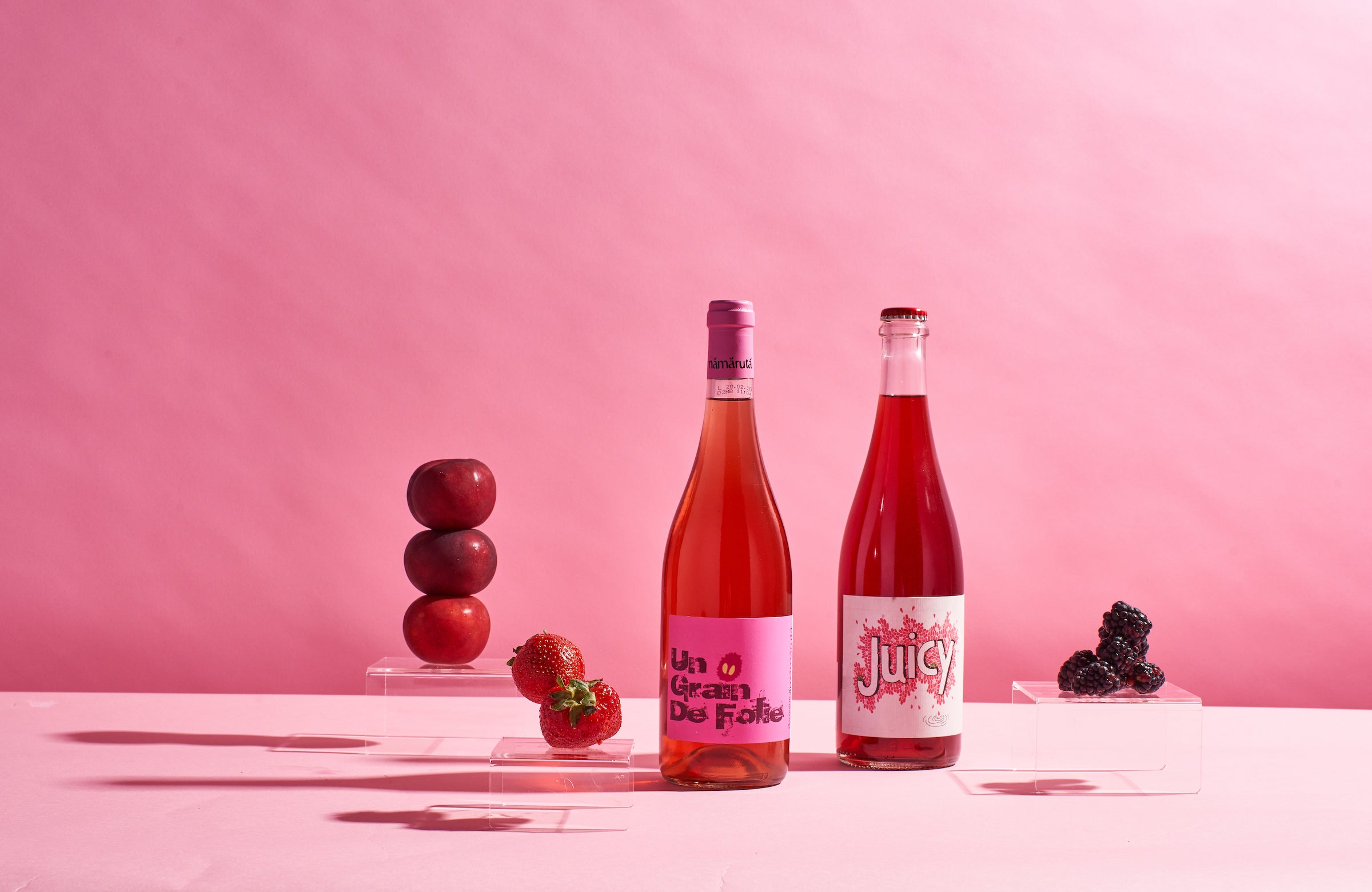 rose natural wines from France and Spain